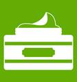 cream container icon green vector image vector image