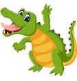 cute crocodile cartoon vector image vector image