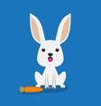 cute rabbit with carrot vector image vector image