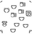 diaper for newborn seamless pattern vector image vector image