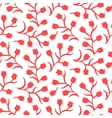 Ditsy floral pattern with small red tulips vector image vector image