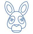 donkey head line icon concept donkey head flat vector image vector image
