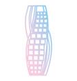 dubai skyscraper tower neon lines vector image vector image