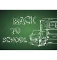 Education back to school bus vector image