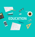 education concept flat style vector image vector image
