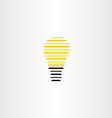 electric bulb icon stylized design vector image