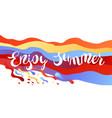 enjoy summer vector image vector image