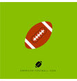 flat icon american football game vector image vector image