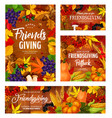 friendsgiving holiday potluck dinner harvest party vector image vector image