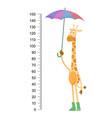 funny giraffe cheerful giraffe with long vector image vector image