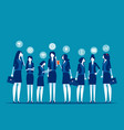 group business colleagues concept business vector image vector image