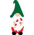 happy christmas gnome with christmas candy vector image vector image