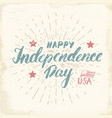 Happy independence day vintage usa greeting card