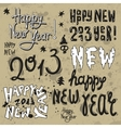 Happy New Year 2013 grunge text vector image