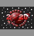 Happy new year 2020 and cricket ball