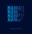 hawaii summer graphic with palms t-shirt design vector image
