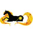 horse autumn vector image vector image