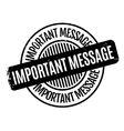 Important Message rubber stamp vector image