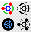 industrial cooperation eps icon with vector image vector image