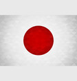 japan country flag of japanese nation vector image