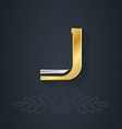 Letter J Template for company logo with monogram vector image vector image