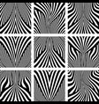 lines patterns vector image vector image