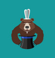 magical hat and bear magic trick predator vector image vector image