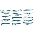 marker stroke line lettering underlines vector image vector image
