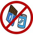 No food or drink sign vector image vector image