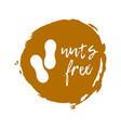 nuts free label food intolerance symbols vector image vector image