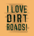 off road quote vector image vector image