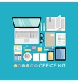 Office kit decorative vector image vector image