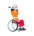 old woman in wheelchair character vector image vector image