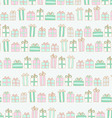 Pattern with boxes with gifts vector image vector image