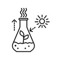 plant sprout in beaker isolated line icon in vector image