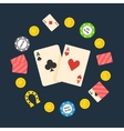 Poker flat logo vector image