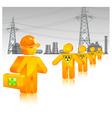 radioactive waste icon vector image vector image