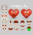 red heart emoji maker emoticon creator vector image