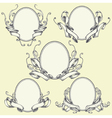 Ribbon frame and border ornaments set 04 vector image vector image