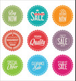 sale stickers colorful retro design collection vector image vector image