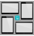 set electronic devices vector image vector image