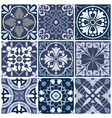 set of nine seamless abstract patterns vector image vector image