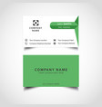simple green and dark color business card vector image vector image