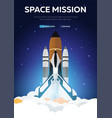 space mission space shuttle astronomical galaxy vector image