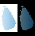 sri lanka island map hexagonal abstraction vector image vector image
