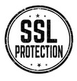 ssl protection sign or stamp vector image vector image