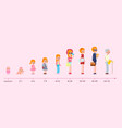 stages growing up life cycle graph vector image