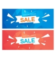 Super Sale Special Offer banners on blue and red vector image vector image