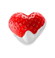 sweet strawberries vector image vector image