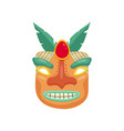 terrible prehistoric african mask with toothy vector image vector image